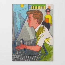 Supermarket Boy Canvas Print