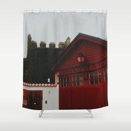 Visby brandstation, Island of Gotland, Sweden Shower Curtain