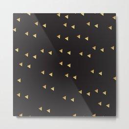 Simplistic Triangle & Black Star Geometric Dots Metal Print