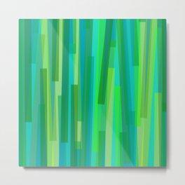 Geometric Green Painting Metal Print