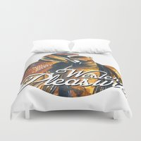 western Duvet Covers featuring Western Pleasure by Fallen Apple Designs