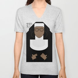 Sister Act, minimal Movie Poster, classic comedy film, funny, Whoopi Golberg, american cinema Unisex V-Neck