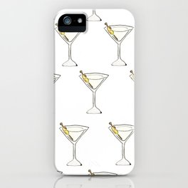 Itsy Bitsy 'Tinis // Watercolor Martini Pattern iPhone Case