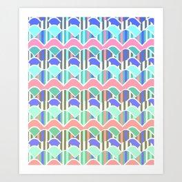 Colorful waves- upside down Art Print