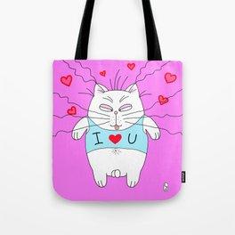 Big cat I love u Tote Bag