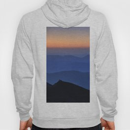 Sierra Nevada. Sunset at the mountains. Astronomical Observatory at 3000 meters Hoody