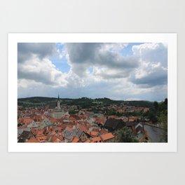 Cesky Krumlov Sky - Czech Republic  Art Print