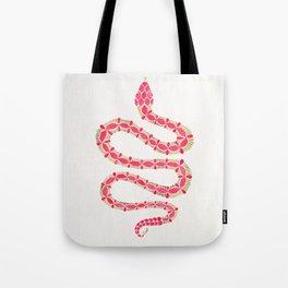 Pink & Gold Serpent Tote Bag