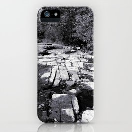 Rocky Shores - Black & White Photography iPhone Case