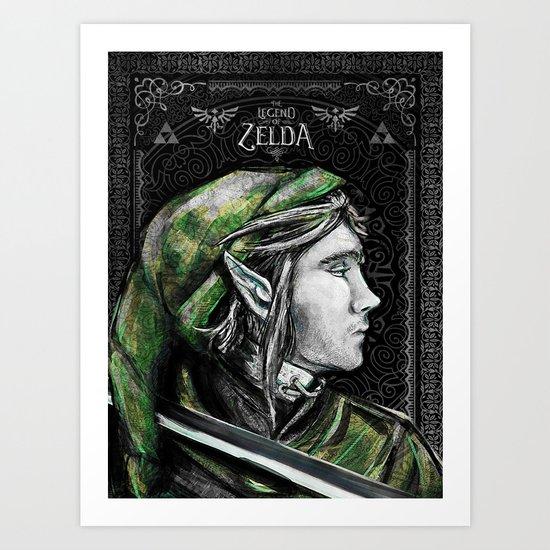 Legend of Zelda - Link The Proud Hylian.  Art Print