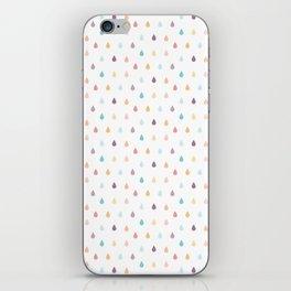 colorful rain iPhone Skin