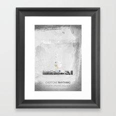 Overtone Rhythmic Framed Art Print
