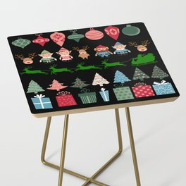 Christmas Elves & More Side Table