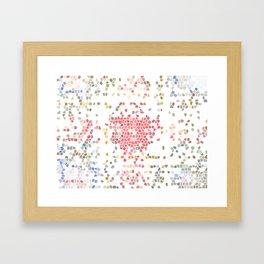 Pastel Tiles Framed Art Print