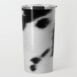 Black and white cowhide Travel Mug