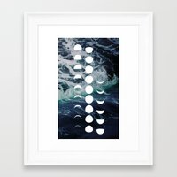 moon phase Framed Art Prints featuring Moon Phase by Julia Loring