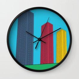 Triple High Rise Wall Clock
