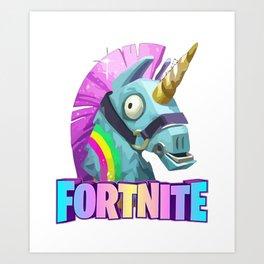 Unicorn Fortnites Art Print