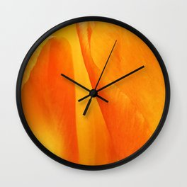 435 - Abstract tulip design Wall Clock