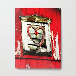 Barn Heart Metal Print