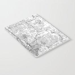 Columbus White Map Notebook