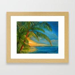 "Sunset ""Reflections"" Key West Framed Art Print"