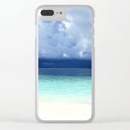 Maldives colors Clear iPhone Case