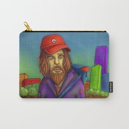 Sad Bearded Bum On The Road Carry-All Pouch