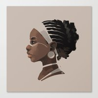 african Canvas Prints featuring African by biboun