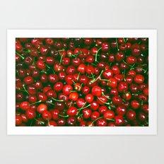 Fresh Cherries fruit pattern Art Print