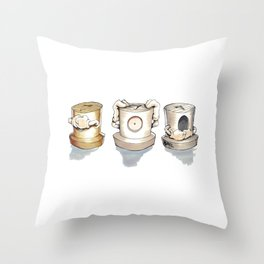 See no, Hear no, Speak no Evil ! Throw Pillow