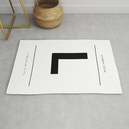 Lincoln City Initial and Coordinates Rug