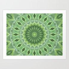 Green Beauty Art Print