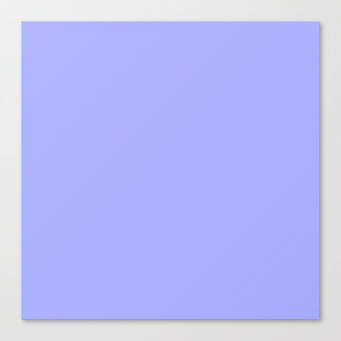 Pastel Periwinkle Blue Canvas Print