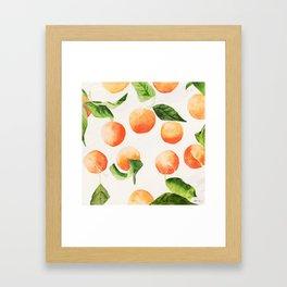 Satsumas Watercolor Painting Framed Art Print