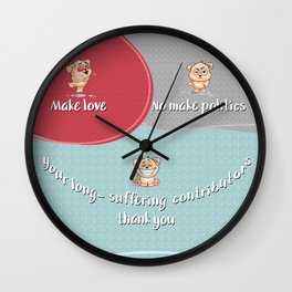 Love Yes Politics No V0 Wall Clock