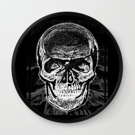 Skull (Black and White) Wall Clock
