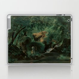 André Giroux Forest Interior with a Painter, Civita Castellana Laptop & iPad Skin
