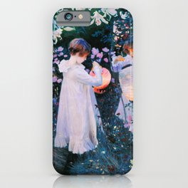 John Singer Sargent - Carnation, Lily, Lily, Rose iPhone Case