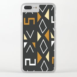 African Tribal Pattern No. 12 Clear iPhone Case