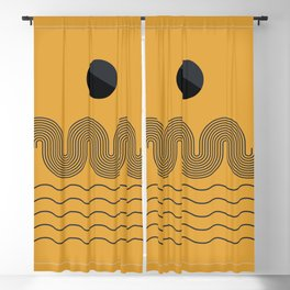 geometric abstract 202 Blackout Curtain