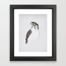 Hawk with Poor Eyesight Framed Art Print