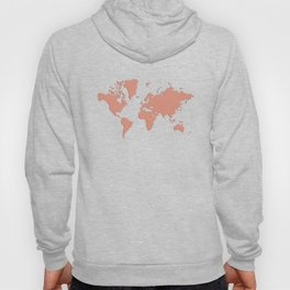 World with no Borders - coral Hoody