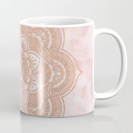 Rose gold mandala - pink marble Coffee Mug