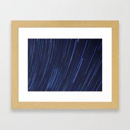 Star Trails Five Framed Art Print