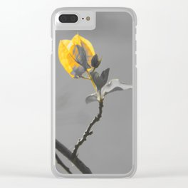 color pops: yellow flower bud Clear iPhone Case