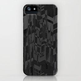 Black Geometric Brush iPhone Case