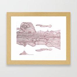 Going in Circles. Framed Art Print