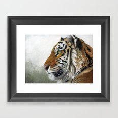 Tiger profile AQ Framed Art Print