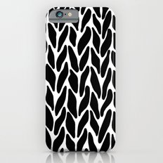Hand Knitted Black on White Slim Case iPhone 6s
